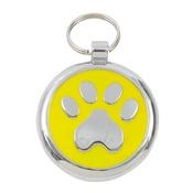 Tagiffany - Smarties Yellow Paw Pet ID Tag