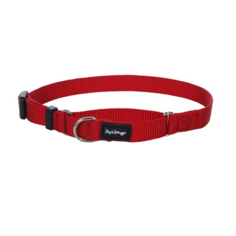 Red Half Check Collar