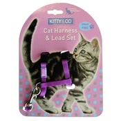 Hem & Boo - Purple Snag Free Cat Harness & Lead Set