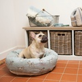 Dog Print Duck Egg Donut Bed 3