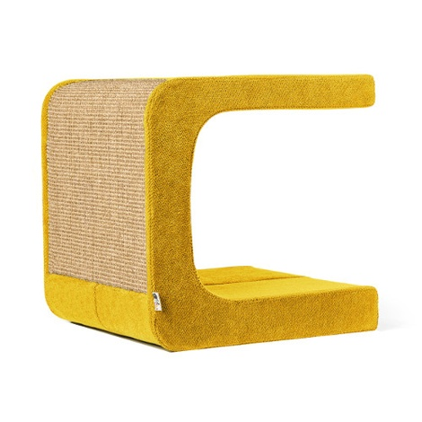 Scratching Post - Letter C - Yellow
