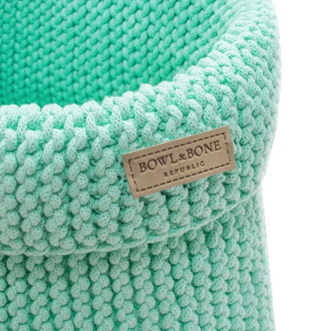 Bowl&Bone Cotton Basket Mint 2