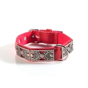 Kara Van Petrol - Fashion Dog Collar with Butterfly Detailing in Black