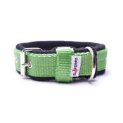 El Perro - 2.5cm width Fleece Comfort Dog Collar – Lime