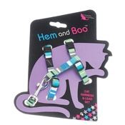 Hem & Boo - Stripes Cat Harness & Lead - Blue