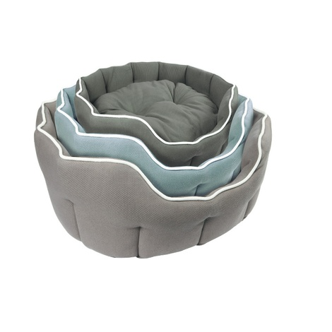 Kudos Kingston Oval Pet Bed in Duck Egg Blue 2