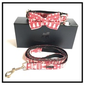 Percy & Co - The Finland Bow Tie and Lead Set