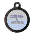 Chipped & Neutered Pet ID Tag - Blue