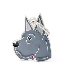 Great Dane Engraved ID Tag – Grey