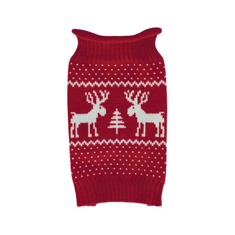 Doggy Things Reindeer Knitted Jumper – Red 2
