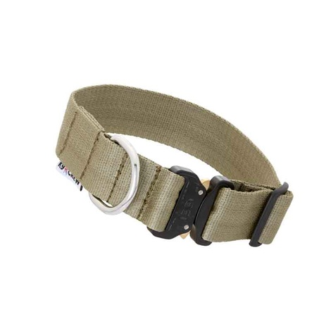 K9 CREW Cobra Tactical Collar (Khaki) 2