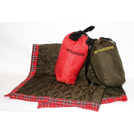 Personalised Pet Travel Bed - Red 3