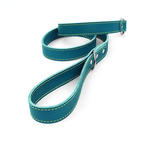 Blue Leather Dog Lead