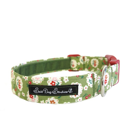 Salt Dog Studio Betsy Green Dog Collar