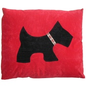 Creature Clothes - Scottie Dog Doza - Black on Red