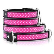 Cool Dog Club - Cool Dog K9 Striker MK1 Polka Dot Pink Dog Collar