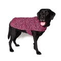 Personalised Pink Leopard Print Dog Coat 5