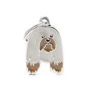 My Family - Lhasa Apso Engraved ID Tag