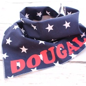Pet Pooch Boutique - Personalised Navy Blue Star Dog Bandana