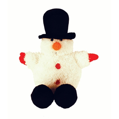 Festive Ball Buddy Dog Toy – Snowman