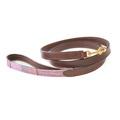The Cromwell Pink Shetland Wool Dog Lead