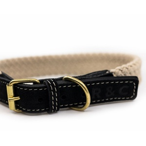 Rope collar (flat) - BLACK