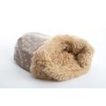 Pooch Pod Dog Bed - Dotty Camel 2