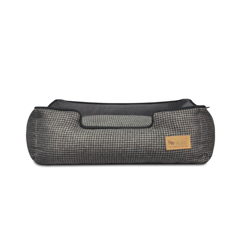 Shadow Grey Houndstooth Lounge Dog Bed 3