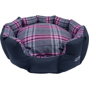 Hem & Boo - Pink Check Oval Dog Bed