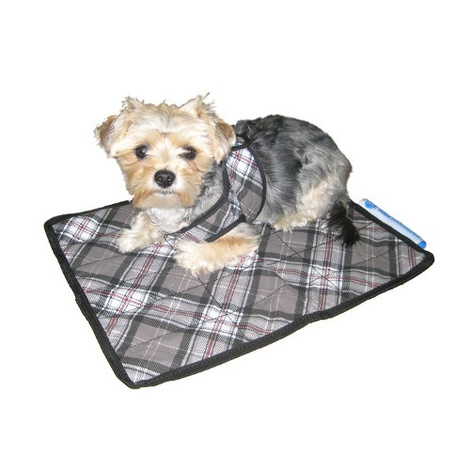 Dog Cooling Mat in Scottish Grey 2
