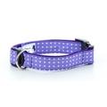 "Purple Polka Dot Collar  1"" Width"