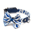 Geo Blue Dog Bow Tie 2