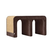 Catworks - Scratching Post - Letter M - Brown