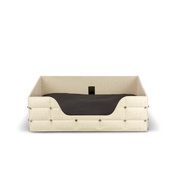 Diva Dog - Rectangular Beige Crocodile Lounge Bed