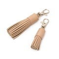 Oatmeal Leather Tassel Clip 2