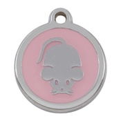 Tagiffany - My Sweetie Light Pink Mouse Pet ID Tag