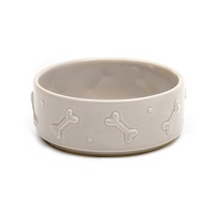 Ceramic Dog Bowl - French Grey