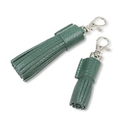 Mutts & Hounds - Peacock Leather Tassel Clip