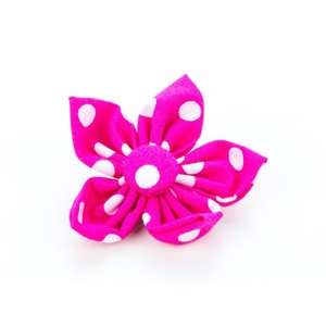 Pink Polka Flower Collar Accessory