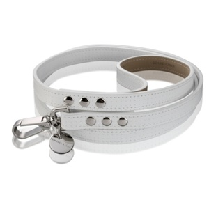 Polo Dog Lead - White