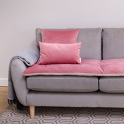 The Lounging Hound - Lustre Velvet Sofa Topper - Blush