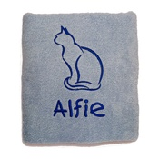 My Posh Paws - Personalised Cat Towel –  Pale Blue
