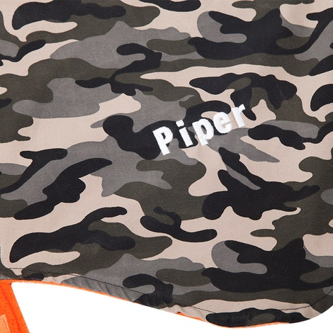 Personalised Green Camo Sighthound Coat 4