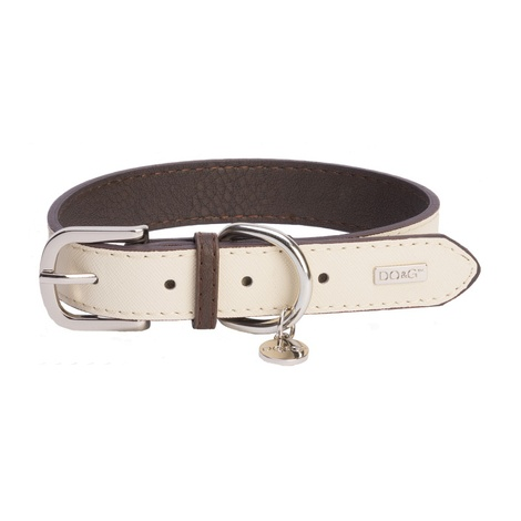DO&G Leather Dog Collar - White