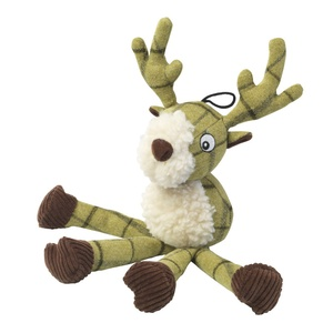 Green Tweed Long Legs Stag Dog Toy