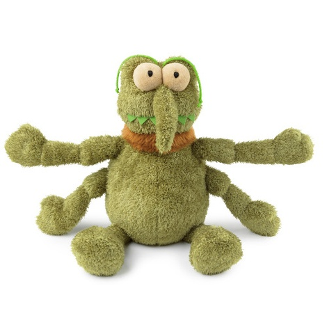Scratchy the Flea Plush Dog Toy - Green 2