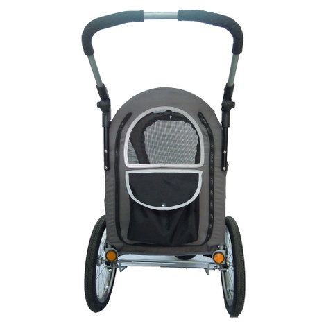 Black/Grey Sporty Dog Trailer Deluxe 3