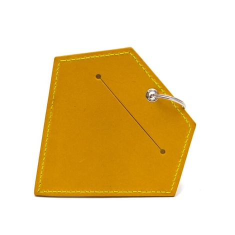 Leather Diamond Poo Pouch – Acacia Yellow 2