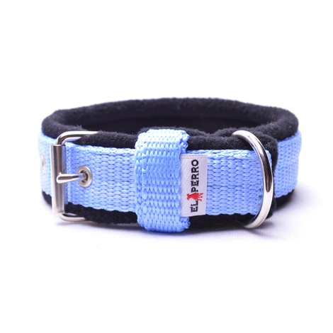 2.5cm width Fleece Comfort Dog Collar – Baby Blue
