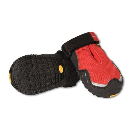 Set of 4 Ruffwear Grip Trex Boots - Red Currant